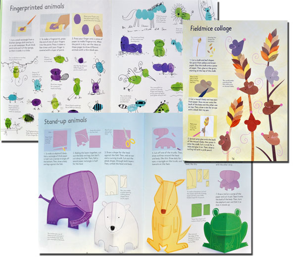 Animal things to make and do,  editura Usborne