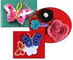 Martisoare crosetate - fluturi si flori