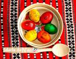Oua de Pasti pentru uz casnic, decorate cu stampile