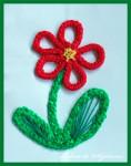 Sireturi colorate – model cu floare