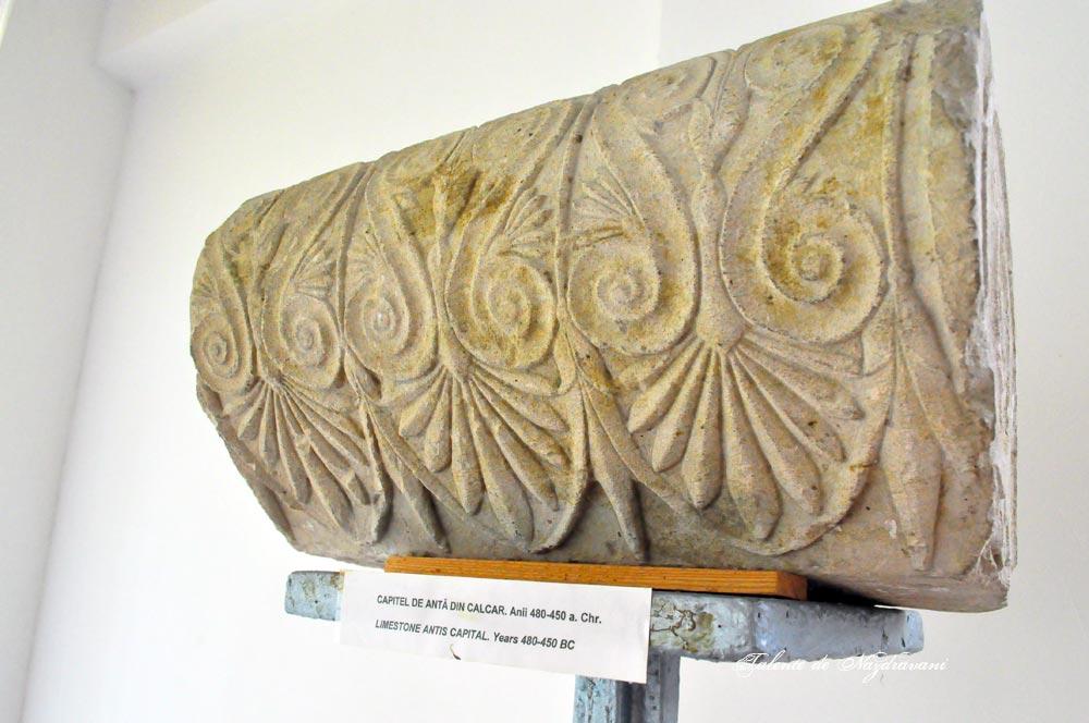 Histria. Muzeu. Cetate. Capitel de anta din calcar. 480-450 a.Ch.