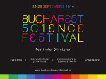Bucharest Science Festival, 22-28 septembrie 2014