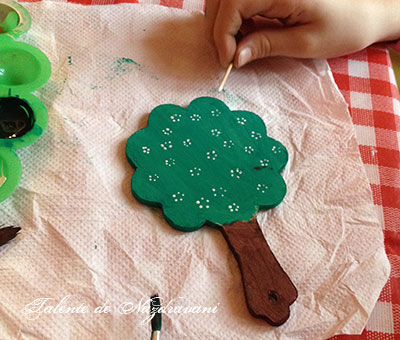oglinda copacel pictura pe obiecte lemn