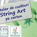 Atelier gratuit pentru copii: String Art pe carton