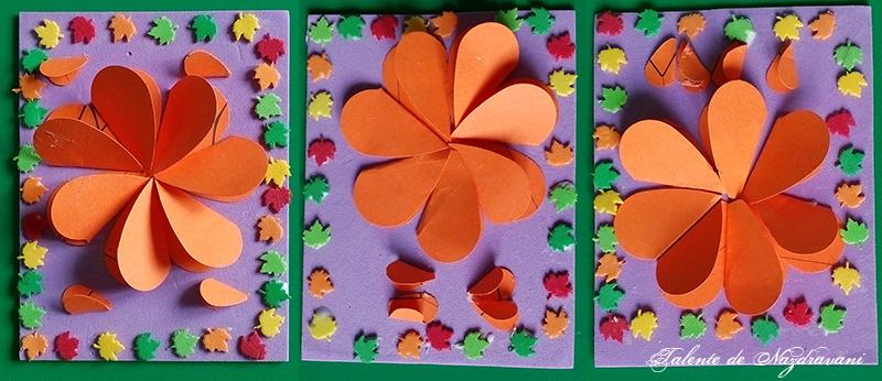 magneti frigider crizanteme toamna