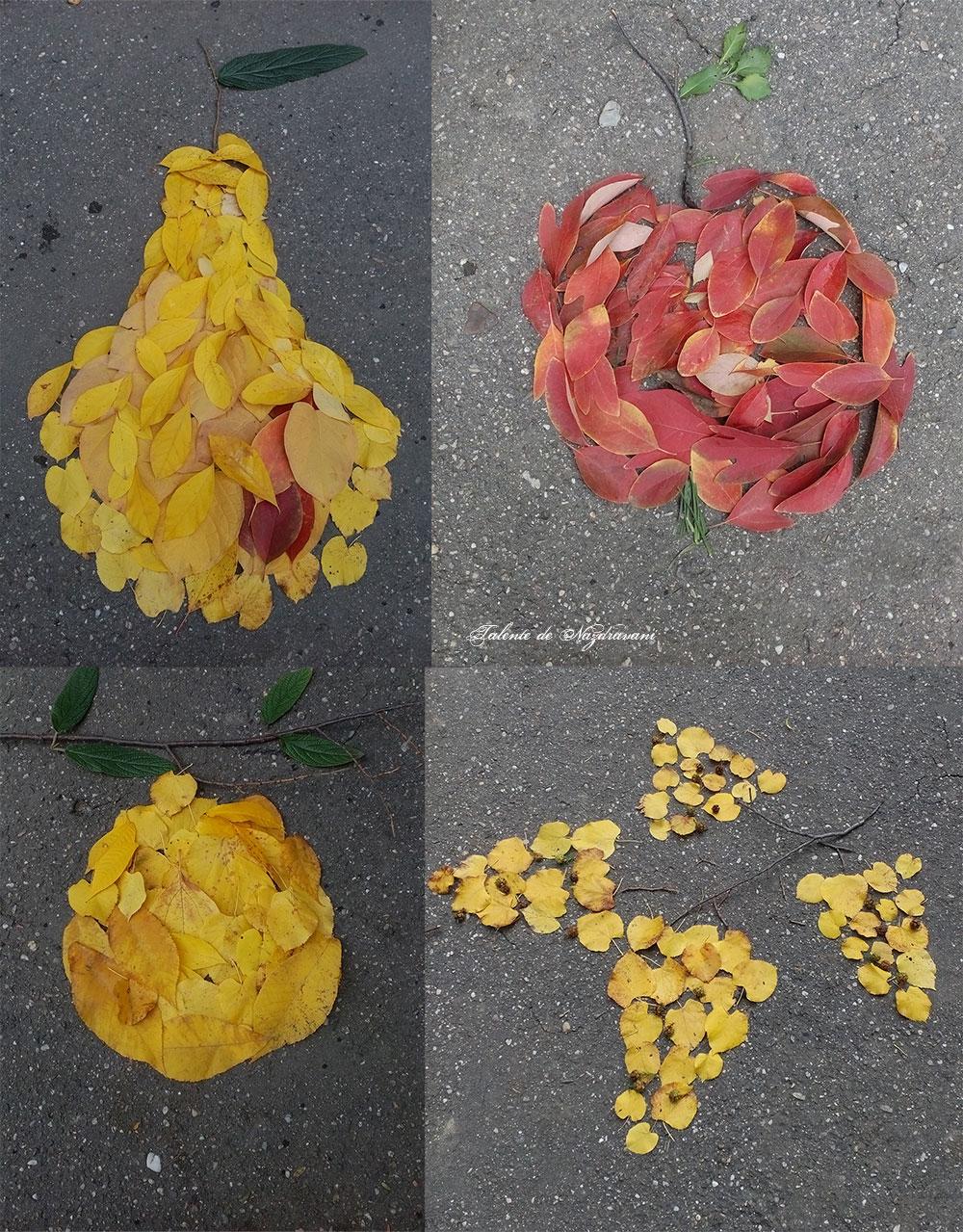 fructe de toamna din frunze colorate
