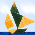 Tangram și colajele cu frunze de toamnă