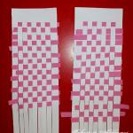 Țeserea cu fâșii de hârtie