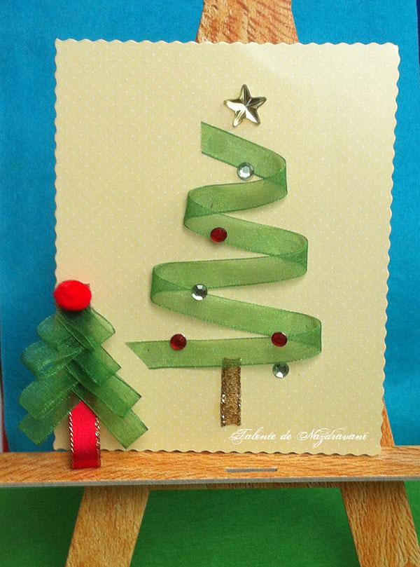Idei creative 118: Fanteii din panglici de Crăciun
