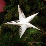 Steluță origami, cu puțin filigran