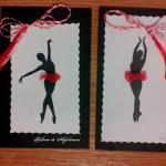 Balet de primăvară - mărțișoare cusute cu balerină
