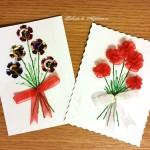 Buchețele de flori de mărțișor - flori cusute