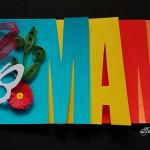 Felicitare de 8 martie pentru MAMA cu litere