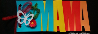 felicitare 8 martie cu litere MAMA