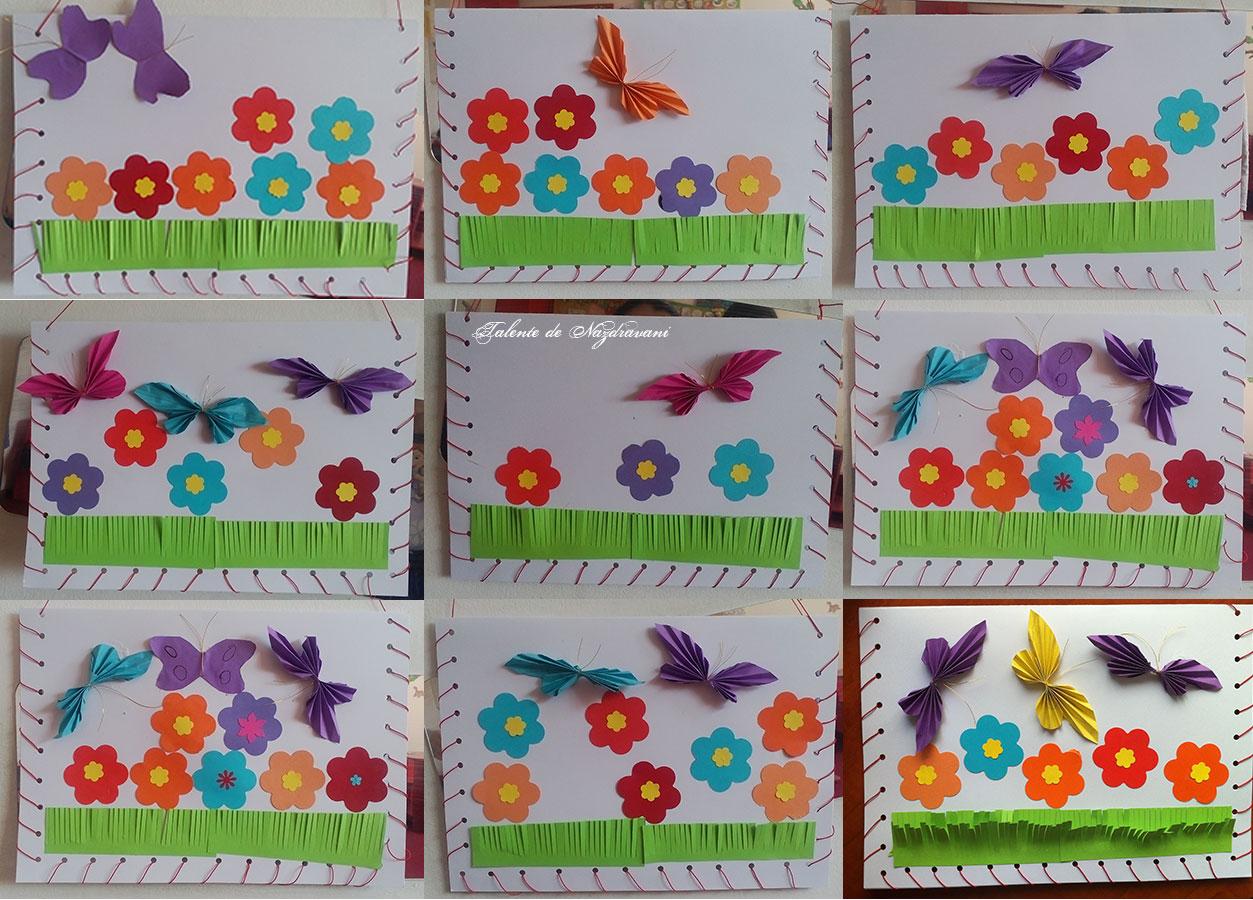 snuruire flori și fluturi evantai