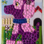 Set creativ mozaic cu cățel
