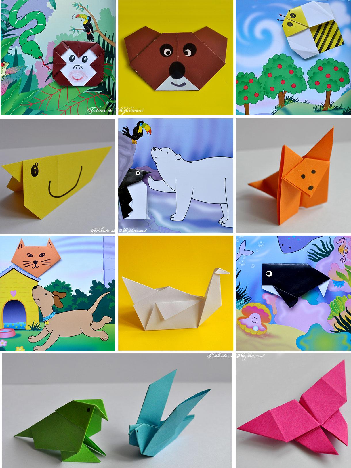Învață să faci animăluțe din hârtie. Origami pentru copii - editura Teora