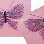 Fluturi string art – cusături