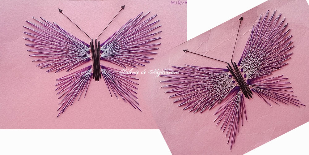 fluturi string art cusaturi