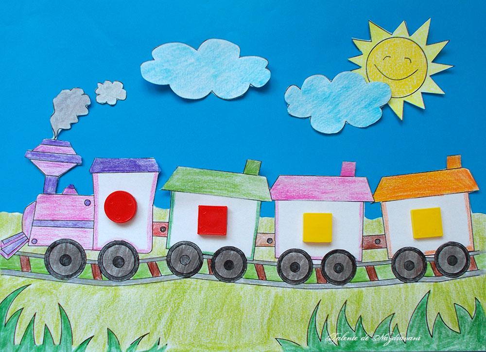 Trenul cu o diferență, joc logic pentru preșcolari