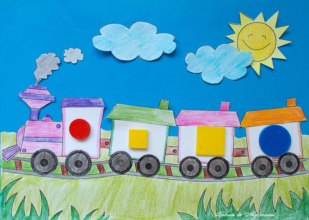Trenul cu 2 diferențe, joc logic pentru preșcolari