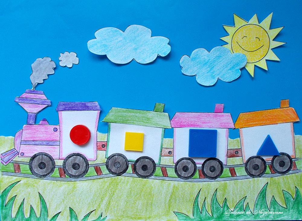 Trenul cu 3 diferențe, joc logic pentru preșcolari