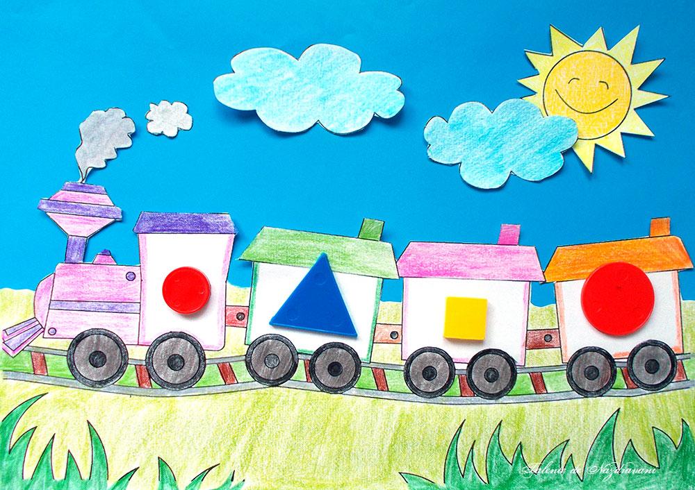 Trenul cu 4 diferente, joc logic pentru preșcolari
