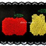 Fruncte de toamnă: măr, pară - string-art