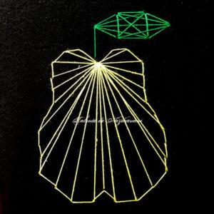 Fruncte de toamnă: pară - string-art
