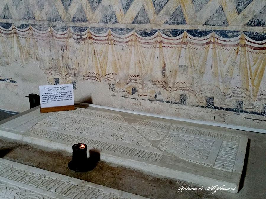 Petru Rareș - piatra de mormânt de la mănăstirea Probota