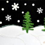 felicitare iarna brad glitter