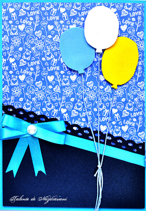 felicitare aniversara baloane
