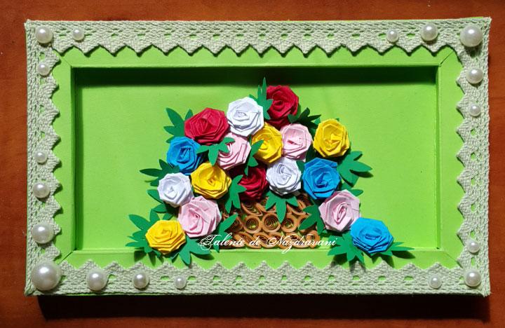 rama 3d trandafiri quilling