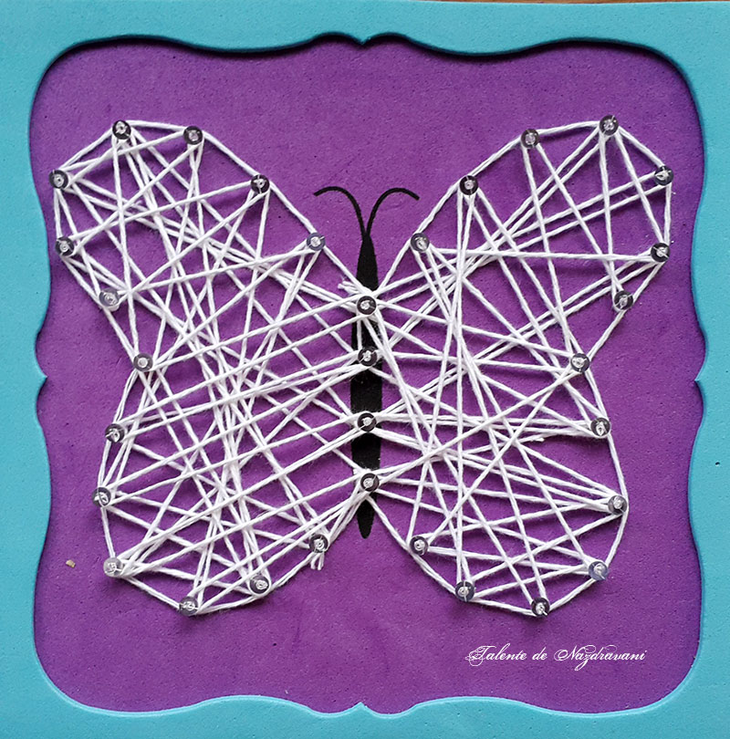fluture ata string-art daco