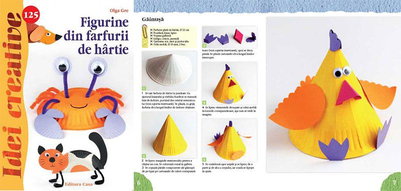 Figurine din farfurii de hârtie - Idei creative 125