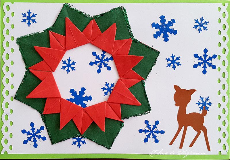 Coronita Crăciun Origami Idei Creative 130
