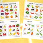 Joc BINGO cu fructe și legume