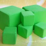 Cuburi didactice confecționate din burete
