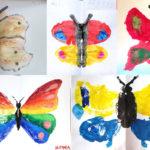 Fluture: forme spontane obținute prin îndoire și presare