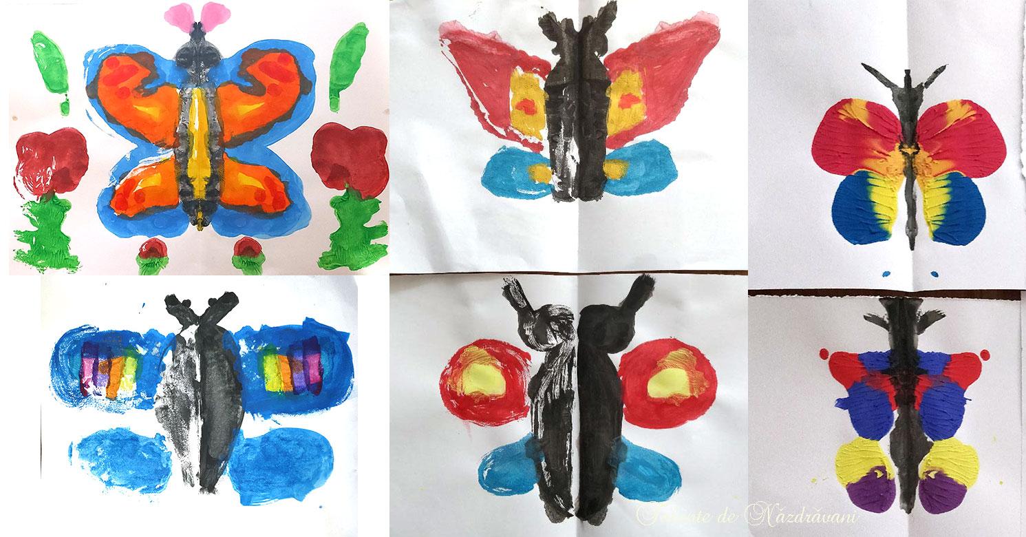 Fluture: forme spontate obținute prin îndoire și presare