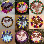 reni ornament brad piese puzzle