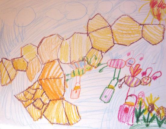 Desen cu albinute
