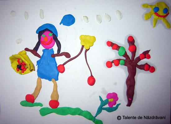 Modelaj din plastilina: cirese