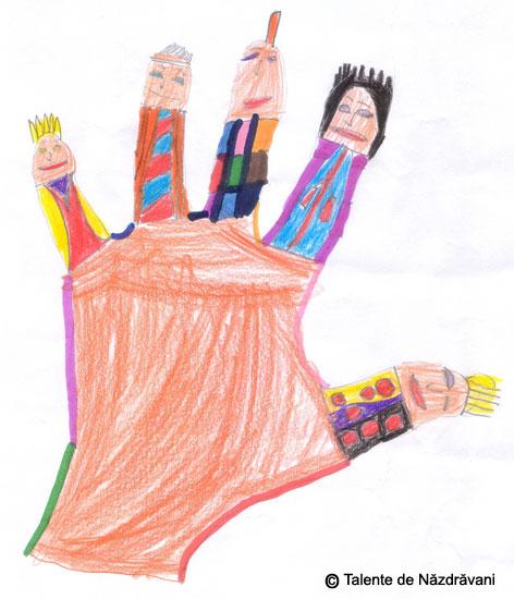 Desen, Personajele din palma mea