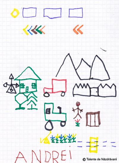 Desene pe patratele
