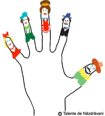 Personajele din palma mea