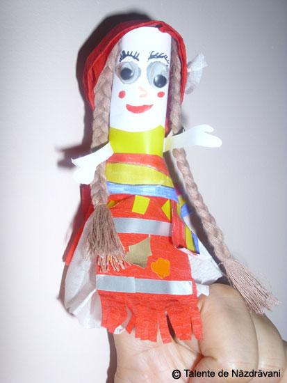 Marioneta pentru teatru pe deget
