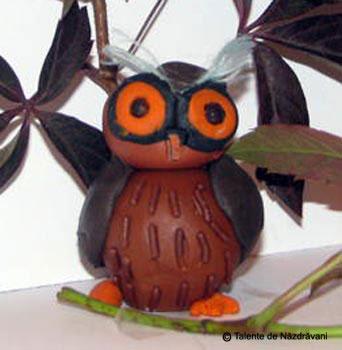 Bufnita - modelaj din plastilina