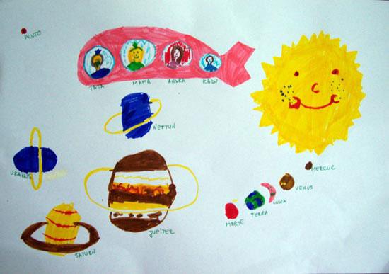 Andra, Familia mea, desen in carioca