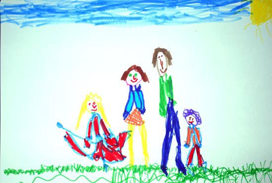 Eliza, Familia mea, desen in carioca